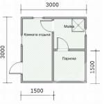план бани 3х3