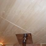 Потолок в бане из липы